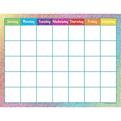 Teacher Created Resources Colorful Scribble Calendar - Colorful Calendar