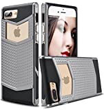 iPhone 7 Plus Case, Ansiwee Anti-slip Shockproof Armor iPhone 7 Plus Protective Defender Case Shell Slim Fit Non-slip Grip Rubber Bumper Case Cover for Apple iPhone 7 Plus 5.5 Inch (Gray) (Wireless Phone Accessory)