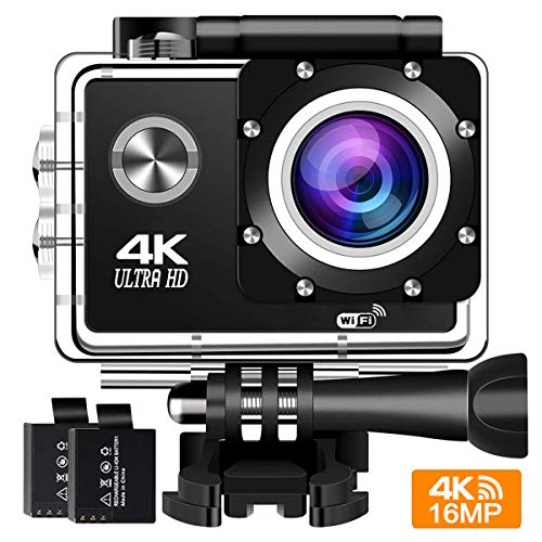 Action Camera 4K 30Fps Sports Cam - BUIEJDOG 16MP Action Cam HD WiFi...