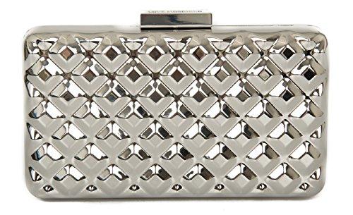 Borsa borsetta pochette donna a mano o tracolla LOVE MOSCHINO articolo JC4113PP1 0902 Argento