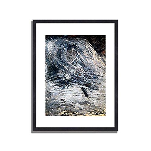 クロードモネ「死の床のカミーユ Camille Monet auf dem Totenbett 1879 」 インテリア アート 絵画 プリント 額装作品 フレーム:木製(黒) サイズ:L (412mm X 527mm) B00NEDX29G3.フレーム:木製(黒) 3.L (412mm X 527mm)