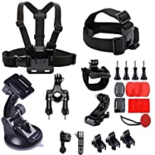 Smatree 25-in-1 Accessories Kit with Wirst/Head/Chest Strap Mount for GoPro Hero 6/ 5/ session/ 4/ 3 +/ 3/ 2/ 1