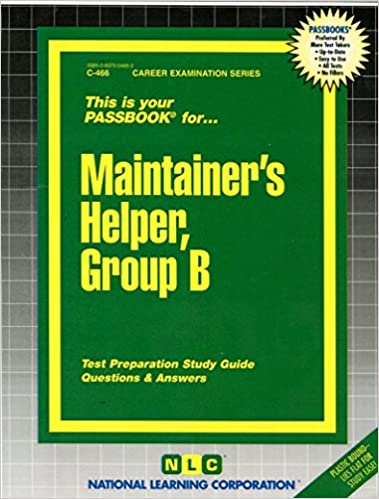 Maintainers helper group bpassbooks c 466 jack rudman maintainers helper group bpassbooks c 466 jack rudman 9780837304663 amazon books fandeluxe Choice Image