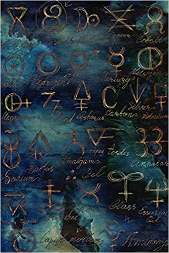 Grimoire Journal - Blank Book Of Shadows: Alchemy Pattern Spell Book