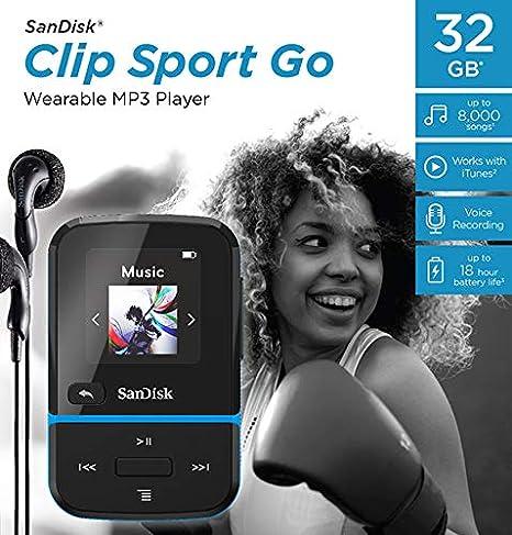 SanDisk 16GB Clip Sport Go MP3 Player LED Screen and FM Radio Black SDMX30-016G-G46K