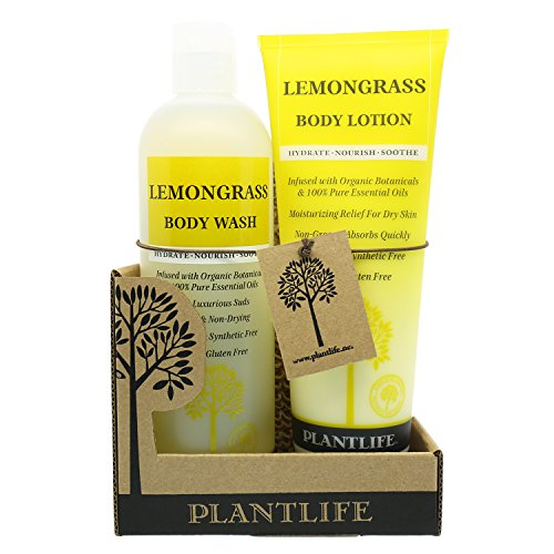 100% Pure & Natural Body Wash & Lotion Combo Set Lemongrass