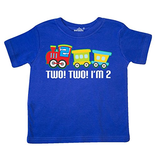 Crewneck Train (inktastic - 2nd Birthday Two Two Train Outfit Toddler T-Shirt 3T Royal Blue)
