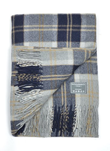 The Tartan Blanket Co. Recycled Wool Knee Blanket Bannockbane Silver Tartan 29.5