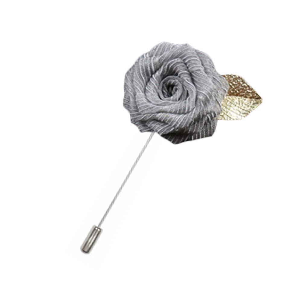 Rosa flor solapa Pin hombres traje broche moda regalo, A07 ...