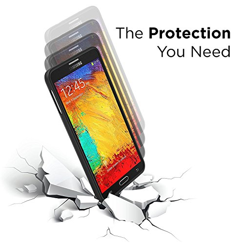 PowerBear Samsung Galaxy Note 3 Extended Battery 7500mAh Back Cover Protective claim Up to 23X Extra Battery energy Black 24 Month guaranty display screen Protector contained Cases