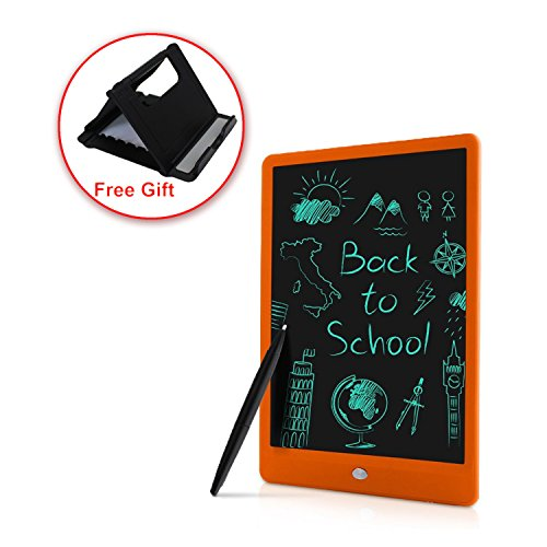 LCD Writing TabletBestobal 10.5 inch Screen Lock Electronic Writing BoardPortable Handwriting Notepad with Stylus and Stand for Kids and Adults at Home, School and Work Office (Orange)