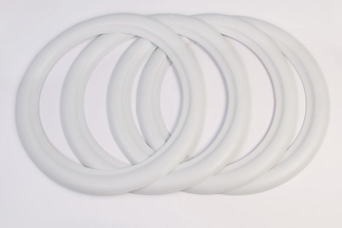 ATLAS 14'' White Tire Wall Portawall Insert Trim Set 4pcs by Atlas Kaucuk