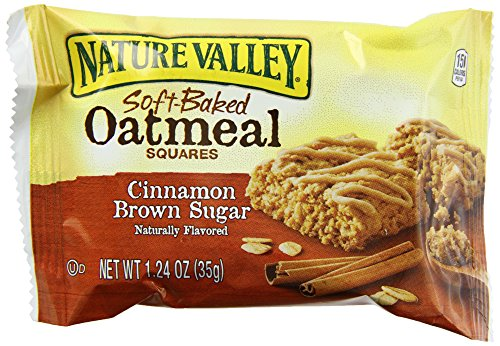 Nature Valley Soft-Baked Oatmeal Squares, Cinnamon Brown Sugar, 22 Count by Nature Valley
