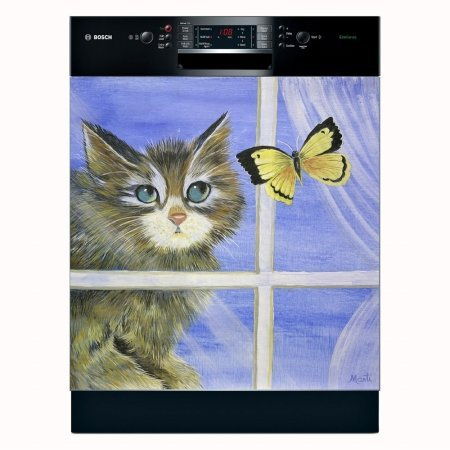 Appliance Art Playful Kitten Dishwasher