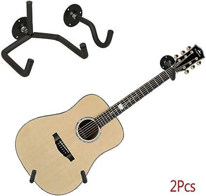 Leoie - Juego de 2 soportes de pared para guitarra, soporte ...