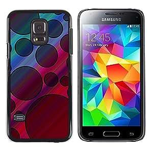iKiki Tech / Estuche rígido - Pattern Black Violet Pink Abstract - Samsung Galaxy S5 Mini, SM-G800, NOT S5 REGULAR!