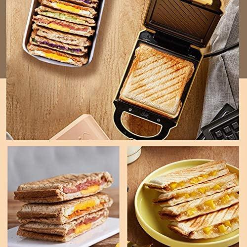 JZH-kitchen Grille-Pain Sandwich Maker Gaufrier Plaques Amovibles Antiadhésives Voyants LCD, Contrôle Automatique De La Température, avec Plaque À Pâtisserie