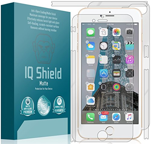 iPhone 7 Plus Screen Protector, IQ Shield Matte Full Coverage Anti-Glare Screen Protector + Full Body Skin for iPhone 7 Plus Bubble-Free Film - with