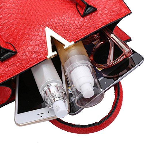 Shoulder Leather Bag Alligator Interent Handbag Fashion Crossbody Bags Pattern Gray Woman wx88SUAq