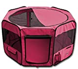 Cheap YoYo Moon 45″ Pet Puppy Dog Playpen Exercise Puppy Pen Kennel 600d Oxford Cloth Red