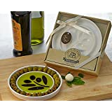 "Artisano Designs ""Taste of the Orchard"" Oil-Vinegar Dipping and Appetizer Plate"