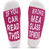 Wine Socks for Women - If You Can Read This Bring Me A Glass of Wine - Vanteen Funny Saying Novelty Birthday Present Gift Idea for Women, Her, Girls, Wife, Wine Lover