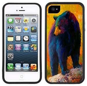 Black Bear Handmade iPhone 5 Black Bumper Plastic Case