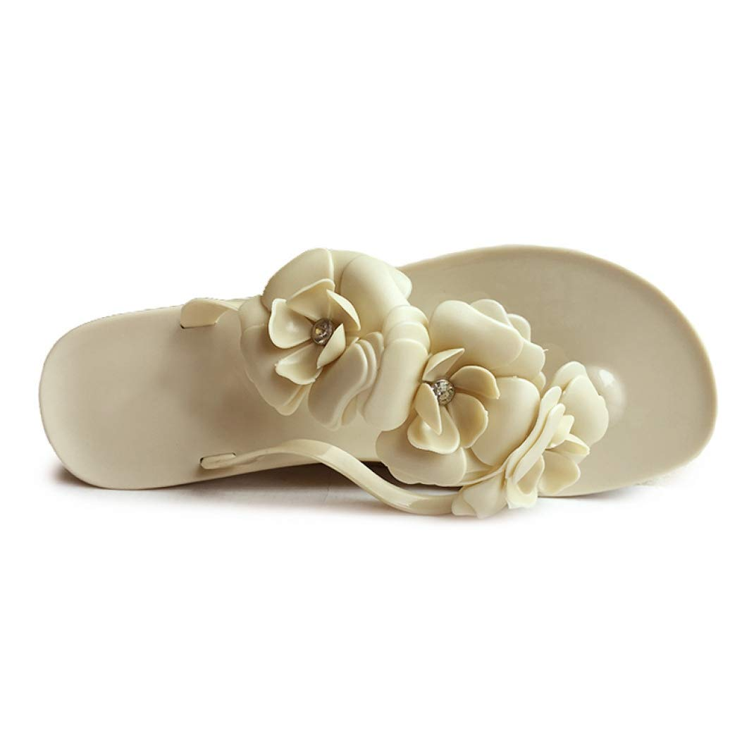 T-JULY Womens Colorful Flowers Flower Flip Flops Ladies Slippers Summer Shoes Slippers for Women Summer Shoes