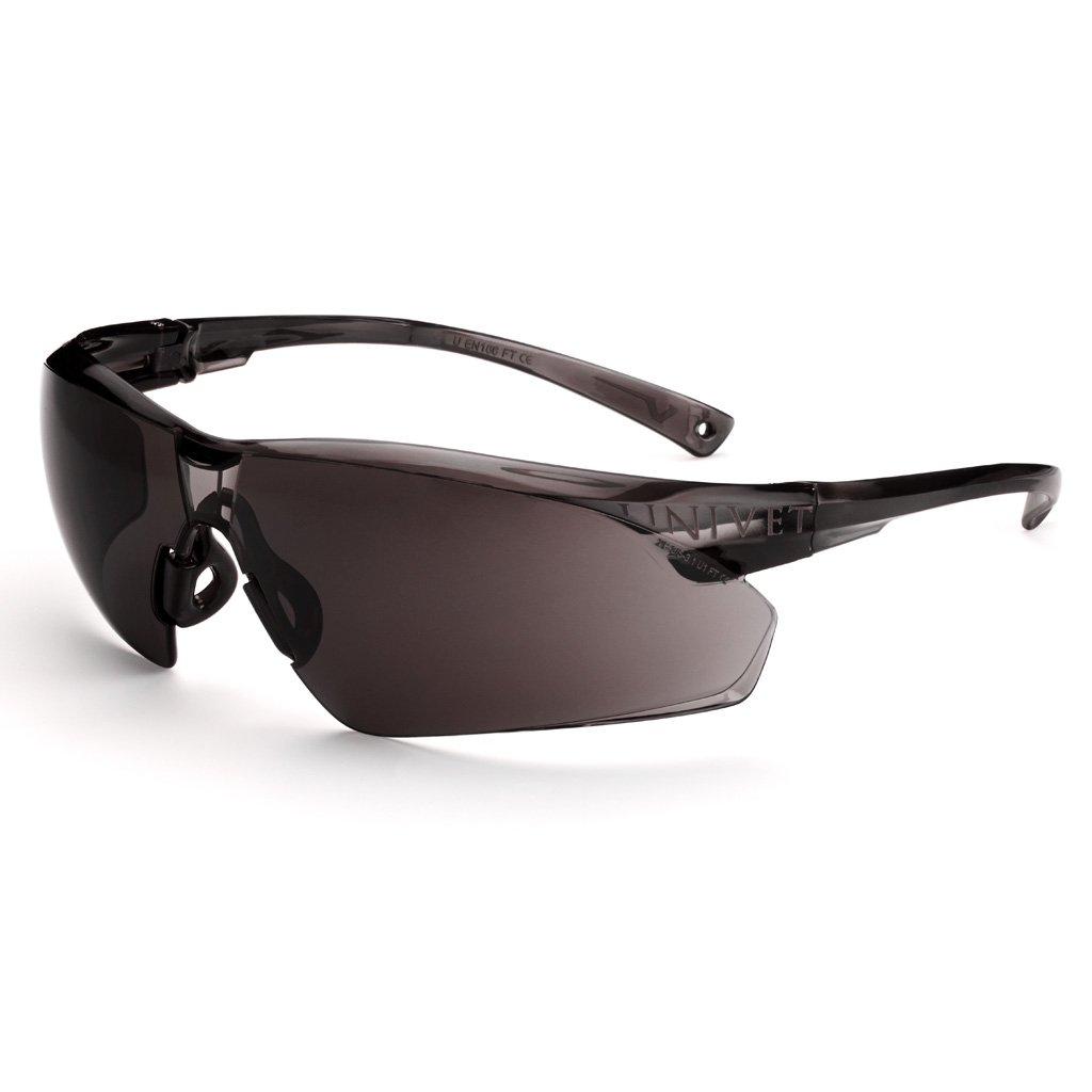 UV400 Gafas de Seguridad con cord/ón para el Cuello Color marr/ón Univet 505