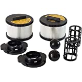 Replacement HEPA Filter Set for DeWalt DWV012 10 Gallon HEPA Shop Vac
