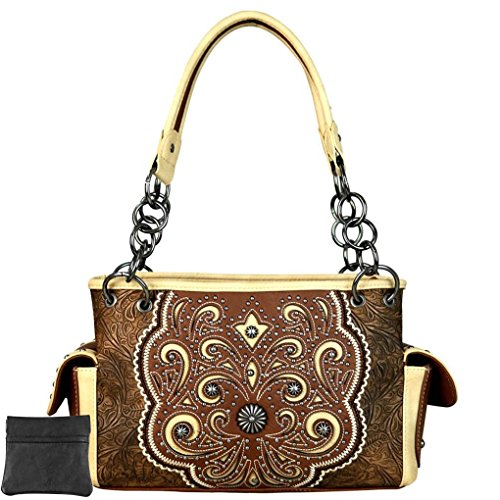 West Scroll Spalla Cut Montana Donna Borsa L out Brown A SqSdzAw