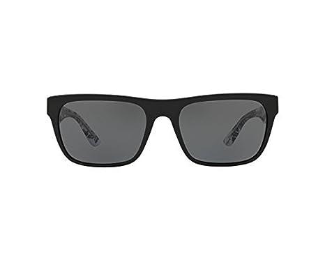b71cb2bd111a Amazon.com: Burberry Men's Rectangular Sunglasses, Black/Grey, One ...
