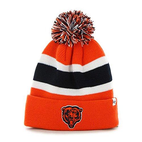 - Chicago Bears Orange Cuff Breakaway Beanie Hat with Pom - NFL Cuffed Winter Knit Toque Cap