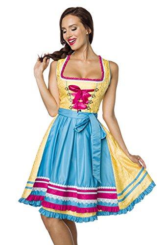 Heels-Perfect - Zuecos de Poliéster para mujer gelb/blau/pink