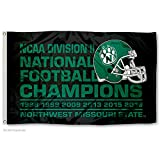 Northwest Missouri State Bearcats Division II 6 Time Football Champions Flag