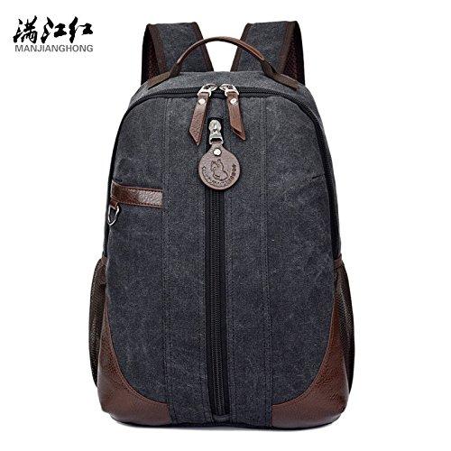 Hongrun Leisure Travel Bag Doppel Umhängetasche Retro-Paket der Studenten.