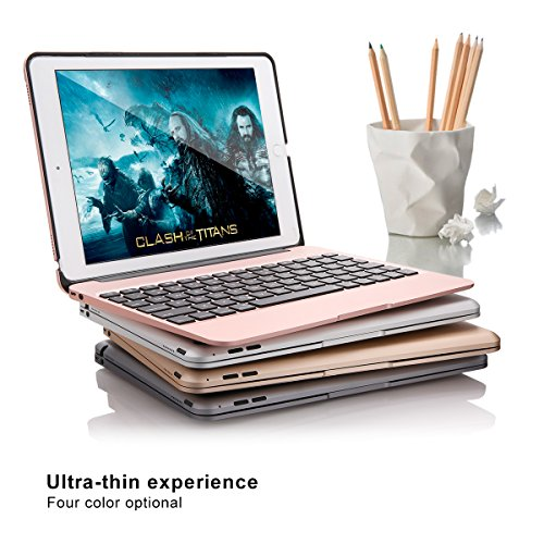 iPad Pro 9.7 Keyboard Case, iEGrow F06 7 Colors Backlit Slim Aluminum Bluetooth Keyboard with Protective Clamshell Case Cover and 2800 mAh External Battery for iPad Air 2 and Pro 9.7(Silver) by iEGrow (Image #7)