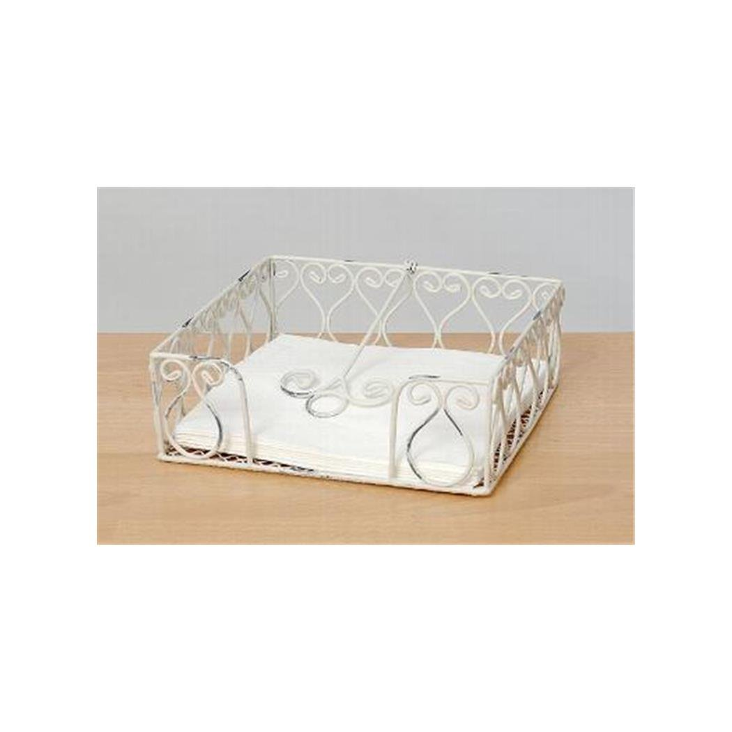 shabby chic white napkin holder. Black Bedroom Furniture Sets. Home Design Ideas