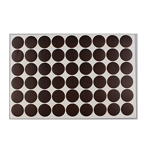 MyLifeUNIT Home Office Screw Holes Cover Caps Stickers (1 Sheet 54 Caps) (Black Walnut ()