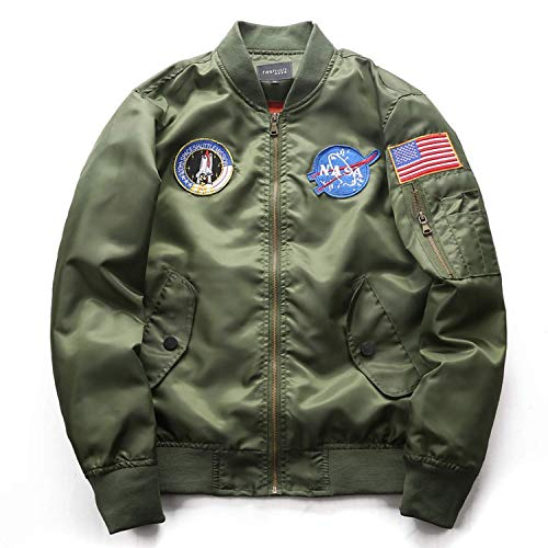 Colorful Summer Flight Jacket Lovers wear Flight Suit Large Size,X-Large,Green by Colorful summer Pilot Jacket
