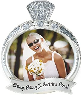 malden international designs wedding jewel and glitter bling bling ring picture frame 3x4 silver