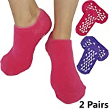 Moisturizing Socks for Dry Feet - Fast Cracked Heel Repair And Simple Foot Skin Care with these Gel Foot Sleeves for Women and Men by ARMSTRONG AMERIKA (2 Pairs)