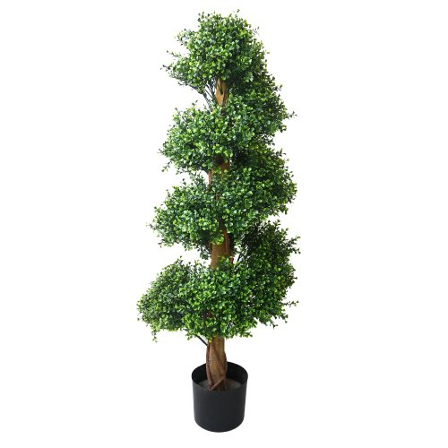 Pure Garden Boxwood Spiral Tree, 48