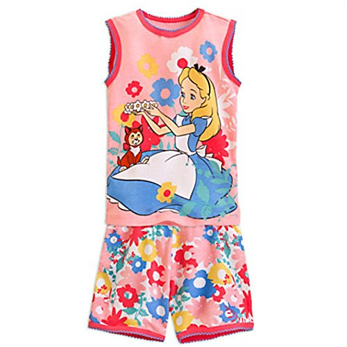 Disney Alice in Wonderland and Dinah Pajama Set for Girls (5)
