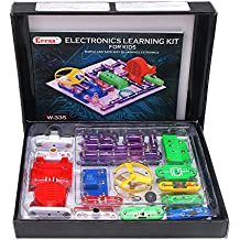 KEESS Electronics Learning Kit for Kids, Best Educational Electric Building Blocks or Circuit Kit to Learn About Electricity and Circuits, 31 pcs, W335