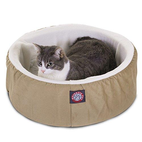 16 inch Khaki Cat Cuddler Pet Cat Bed By Majestic Pet Produc