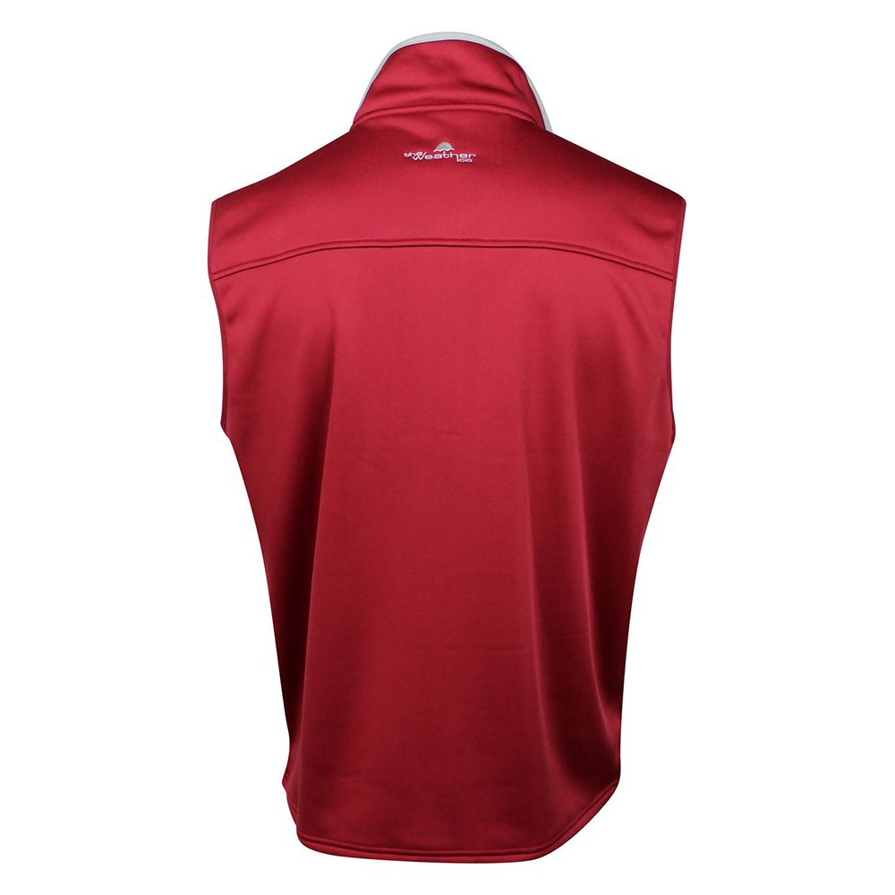 The Weather Company Mens Poly-Flex Full Zip Vest Red S by The Weather Apparel Co (Image #2)