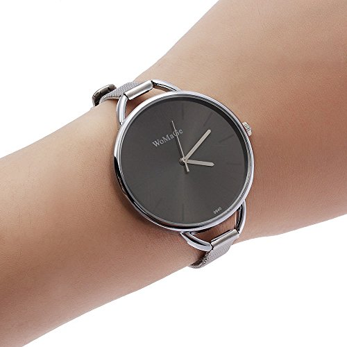 New Fashion Classic Women's Lady Quartz Stainless Steel Analog Wrist Watch - Extender Series Display
