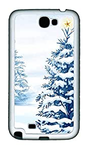 Samsung Note 2 Case Christmas Tree with Star136 TPU Custom Samsung Note 2 Case Cover White