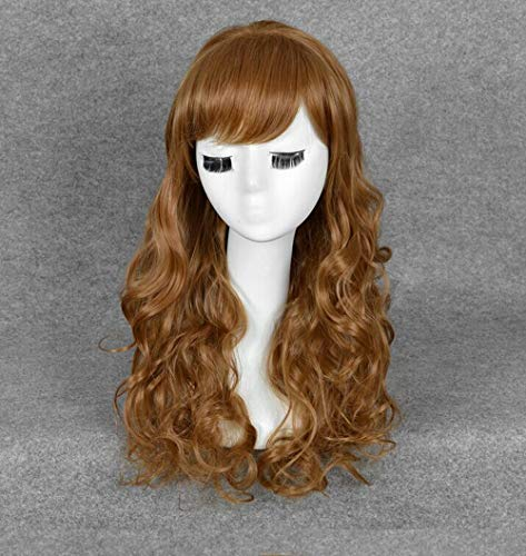 Women's Long Curly Flax Wig Party Costume Cosplay -